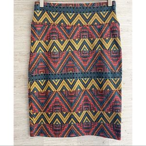 LULAROE Size Small Printed Cassie Pencil Skirt